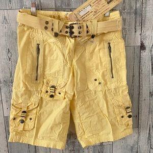 🆕 DA-NANG Yellow Cotton Cargo Shorts 🆕